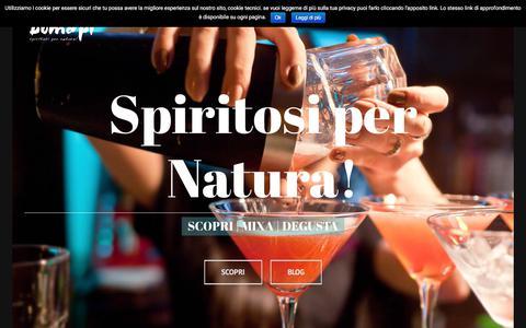Screenshot of Home Page bomapi.com - bomapi – Produzione Liquori Artigianali, Rosoli e Grappe. - captured Oct. 10, 2017