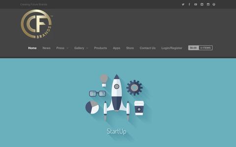 Screenshot of Home Page cf-brands.com - cf-brands | Creating Future Brands - captured Sept. 26, 2014