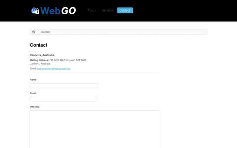 Screenshot of Contact Page Maps & Directions Page webgo.com.au - Contact | WebGo.com.au - captured Dec. 15, 2016