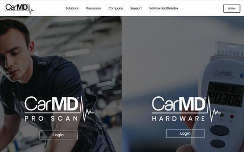 Screenshot of Login Page carmd.com - Login – CarMD - captured Nov. 8, 2018