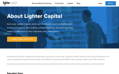 Screenshot of About Page lightercapital.com - About | Lighter Capital - captured Dec. 7, 2018