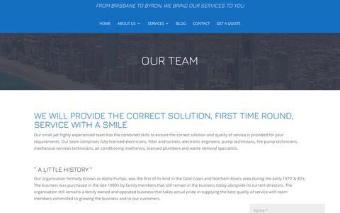 Screenshot of Team Page alphapms.com.au - Our Team | Colin Clark, Daniel Clark, Alpha PMS, Alpha PMS - captured July 29, 2018