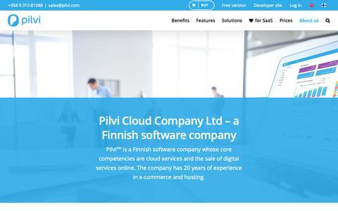 Screenshot of About Page pilvi.com - Pilvi Cloud Company - Pilvi™ - captured Sept. 28, 2018