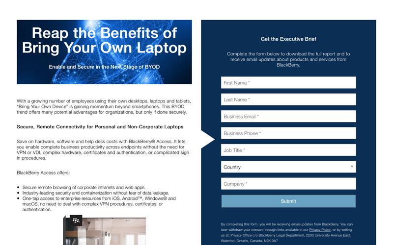BYOD – Bring Your Own Laptop - United States