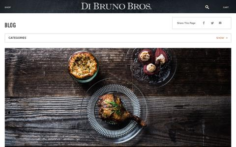 Screenshot of Blog dibruno.com - Cheese Blog | Gourmet Recipes | Gourmet Food Blog - captured Oct. 16, 2015