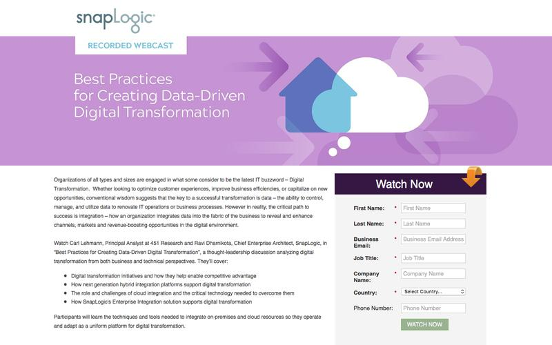 [Webcast]  Best Practices for Creating Data-Driven Digital Transformation