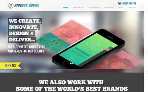 Screenshot of Home Page the-app-developers.co.uk - App Developers | App Development for Android | app developers iPhone - captured Dec. 5, 2015