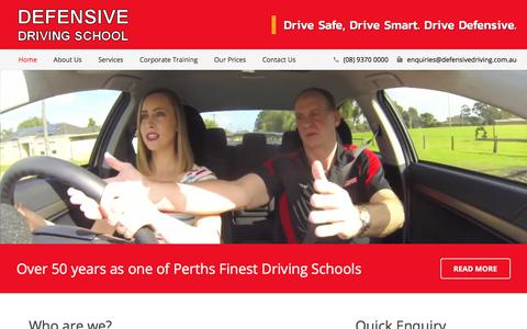 Screenshot of Home Page defensivedriving.com.au - Driving School in Perth | Defensive Driving Lessons - captured July 5, 2017