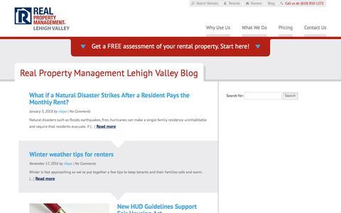 Screenshot of Blog rpmlehighvalley.com - Allentown PA Property Management Blog   Real Property Management Lehigh Valley - captured Feb. 23, 2018