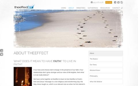 Screenshot of About Page theeffect.org - About theeffect | theeffect - captured Dec. 2, 2016