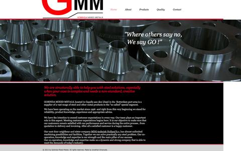 Screenshot of Home Page gmm.nl - GMM | Steel | The Netherlands - captured Oct. 2, 2014