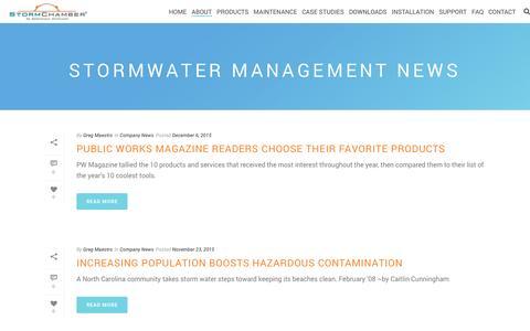 Screenshot of Press Page stormchambers.com - Stormwater Management News | StormChambers - captured Dec. 16, 2016