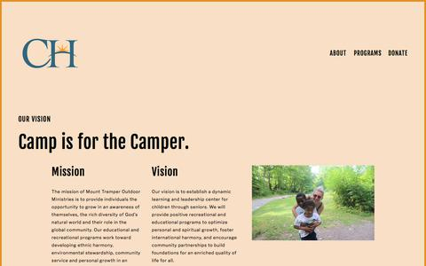Screenshot of About Page campherrlich.org - Our Vision — Camp Herrlich - captured July 15, 2018