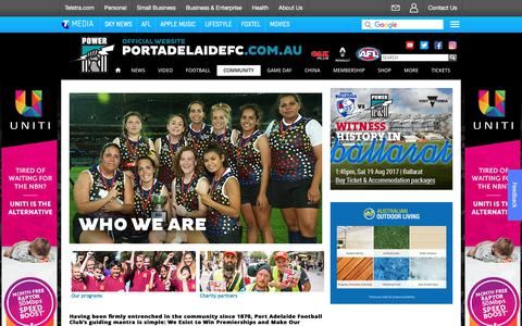 Screenshot of About Page portadelaidefc.com.au - Power Community Ltd - portadelaidefc.com.au - captured June 27, 2017