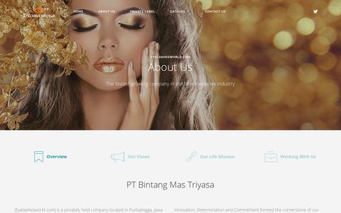 Screenshot of About Page eyelashesworld.com - About Us | eyelashesworld.com - Manufacturer of the world's best false eyelashes - captured Sept. 26, 2018