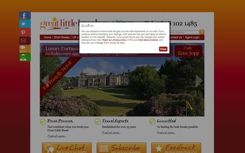 Screenshot of Home Page greatlittlebreaks.com - Holiday Breaks | Weekend Breaks | Short Breaks | City Breaks - captured Sept. 25, 2014
