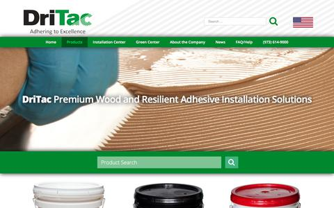 Screenshot of Products Page dritac.com - Products Archive - DriTac - captured Oct. 13, 2017