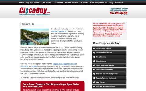 Screenshot of Contact Page ciscobuy.com - Contact CiscoBuy.com Buy Sell Trade Cisco Equipment | Ciscobuy.com - captured Oct. 2, 2014
