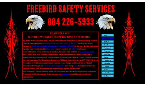 Screenshot of About Page freebirdsafetyservices.ca - Freebird Safety Services About Us - captured April 27, 2016