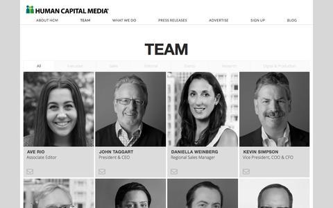 Screenshot of Team Page humancapitalmedia.com - Team | Human Capital Media - captured Oct. 18, 2017