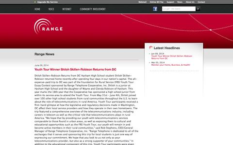 Screenshot of Press Page rangeweb.net - Range - You're Connected - captured Oct. 7, 2014