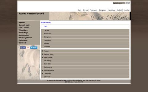 Screenshot of Site Map Page Menu Page rodeo.no - Map - captured May 27, 2016
