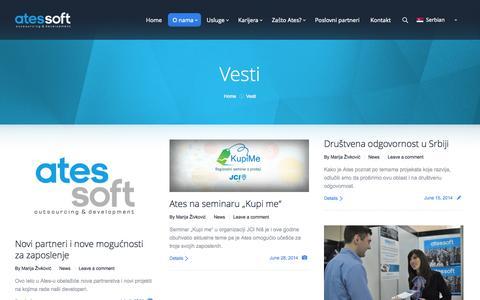 Screenshot of Press Page atessoft.rs - Ates Soft     Vesti - captured Oct. 4, 2014