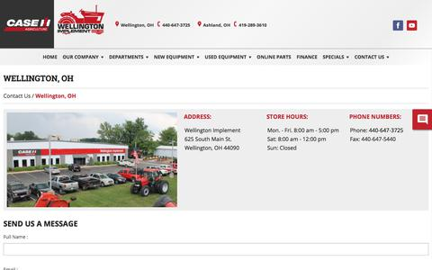 Screenshot of Hours Page wellingtonimplement.com - Our Contact Information With Hours, Location, And Phone Number » Wellington, Ohio - captured Feb. 12, 2018