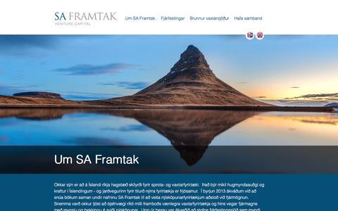 Screenshot of Home Page saframtak.is - SA Framtak GP ehf. - captured May 26, 2017