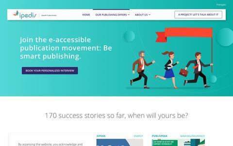 Screenshot of Case Studies Page ipedis.com - Digital accessibility definition | Ipedis - captured Nov. 1, 2018