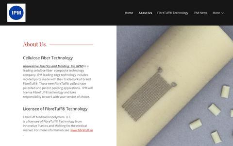 Screenshot of About Page woodcompositesandmolding.com - About Us | Innovative Plastics and Molding - captured Oct. 12, 2018