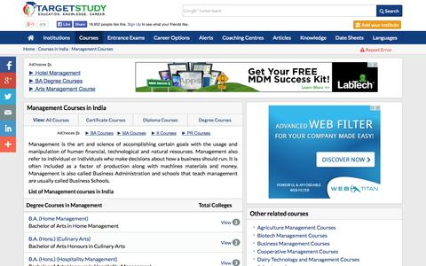 Screenshot of Team Page targetstudy.com - Management Courses in India | List of Management Courses | Best Management Courses - captured Oct. 30, 2014