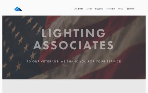 Screenshot of Home Page laiweb.net - LIGHTING ASSOCIATES= - captured Nov. 10, 2018