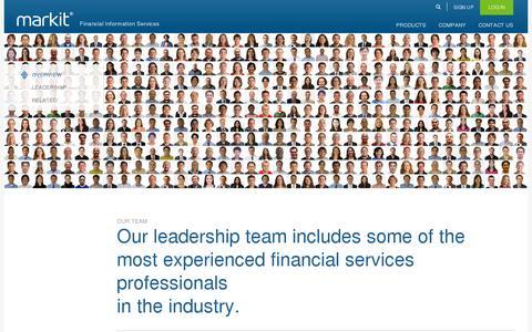 Screenshot of Team Page markit.com - Our Team - captured July 18, 2014