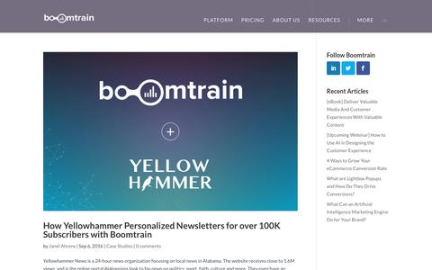 Screenshot of Case Studies Page boomtrain.com - Case Studies Archives - Boomtrain - captured Oct. 8, 2016