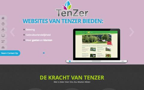 Screenshot of Home Page Team Page tenzer.nl - Home - captured Oct. 2, 2014