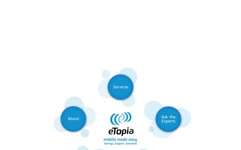 Screenshot of Testimonials Page etopia.ca - eTopia Communications - Mobile Savings, Support, Solutions and Strategy - captured Oct. 3, 2014
