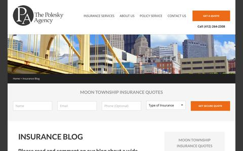 Screenshot of Blog drivepa.net - The Polesky Insurance Agency Blog - captured Oct. 23, 2017