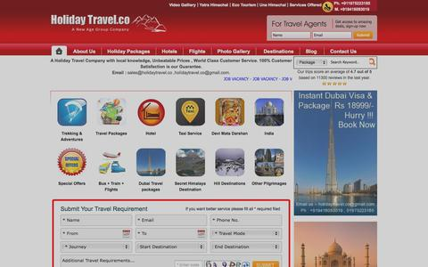 Screenshot of Home Page holidaytravel.co - Budget Holiday Travel Packages India|Cheap Flights and Budget Holidays India| India Budget Tourist Guide |Cheap International Packages from India| Cheap Europe USA packages from India|Budget Hotel Booking Online|Cheap Trekking Backpacking tours India - captured Sept. 19, 2014