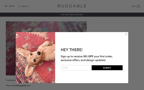 Screenshot of Contact Page ruggable.com - Contact Us                – RUGGABLE - captured Nov. 5, 2018