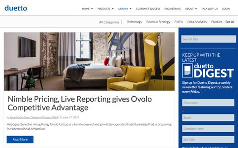 Screenshot of Case Studies Page duettocloud.com - Revenue Strategy Blogs | Hotel Industry News - Duetto Blog | Data Analytics - captured Jan. 6, 2020