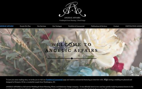 Screenshot of About Page angelic-affairs.com - ABOUT ANGELIC AFFAIRS - captured July 30, 2018