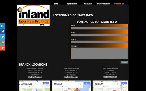 Screenshot of Privacy Page Contact Page inlandlease.com - Contact Us - captured Oct. 23, 2014