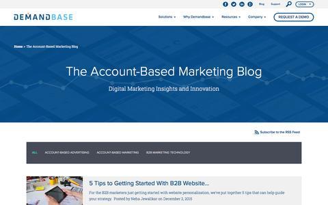 The Account-Based Marketing Blog :: Demandbase