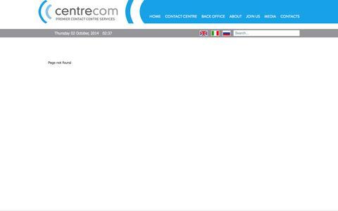 Screenshot of Services Page centrecom.eu - Centrecom | Our Services at a Glance - captured Oct. 2, 2014
