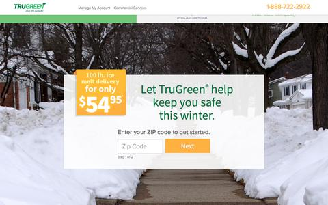 Screenshot of Landing Page trugreen.com - TruGreen. Live Life outside. - captured May 31, 2018