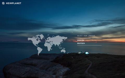 Screenshot of Home Page heimplanet.com - Language | HeimplanetHeimplanet - captured July 18, 2015