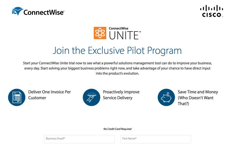 Try the ConnectWise Unite Pilot for Free