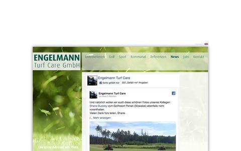 Screenshot of Press Page golfplatzpflege.com - Engelmann - News - captured Aug. 7, 2017