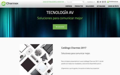 Screenshot of Home Page charmex.net - Charmex Internacional S.A Home - captured Nov. 5, 2016
